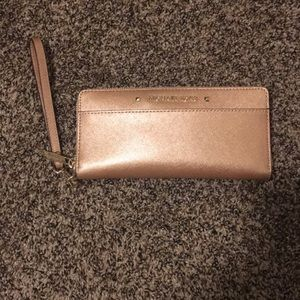EUC rose gold MK large continental wallet